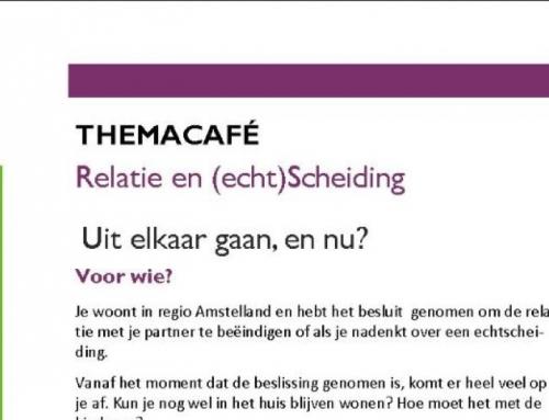 Binnenkort: Themacafé Uit elkaar gaan en nu?
